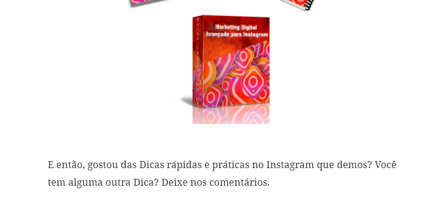 Perguntas no Final do Post do Instagram