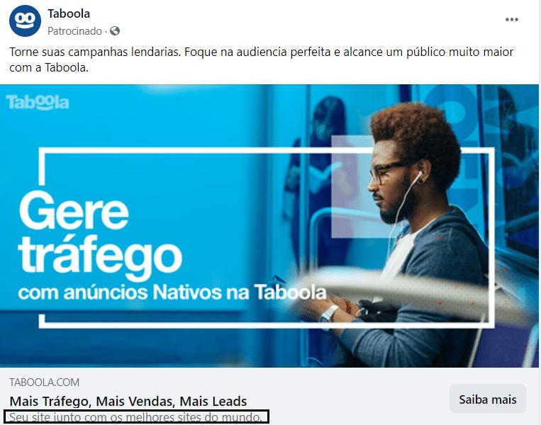 Subtitulo anúncio Taboola