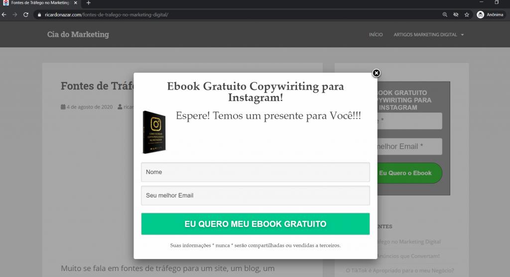 Ebook Gratuito Copywiritng  para Instagram