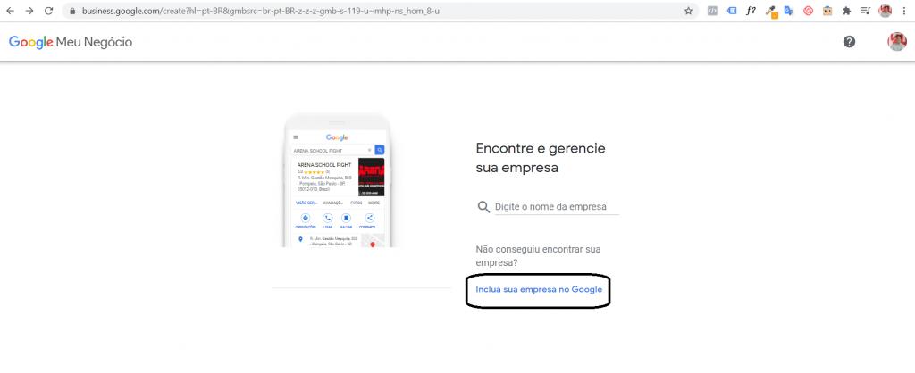 Cadastro no Google Meu Negócio