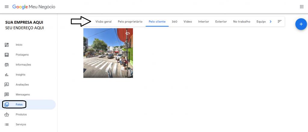 Adicionar fotos no Google meu Negócio